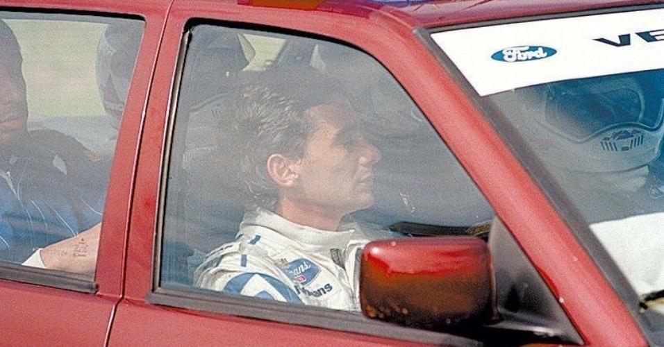 27.03.94 - Ayrton Senna após o GP Brasil de 1994