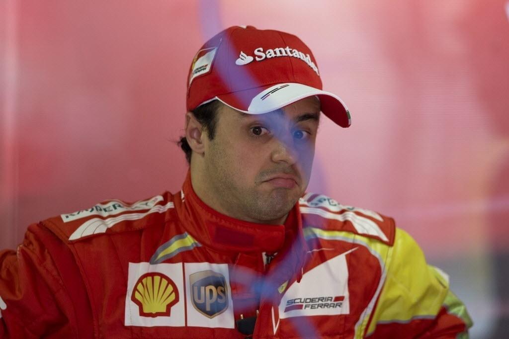 Felipe Massa, na Ferrari, durante GP do Brasil, em Interlagos