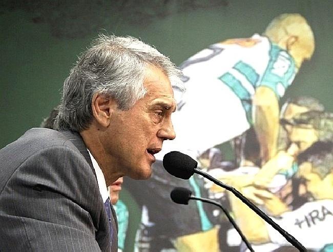 Vilson Riberito, presidente do Coritiba, concede entrevista coletiva no Couto Pereira