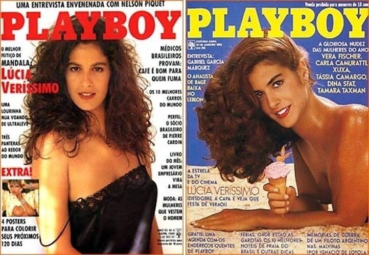 Lúcia Veríssimo foi capa da Playboy duas vezes, em 1983 e 1988