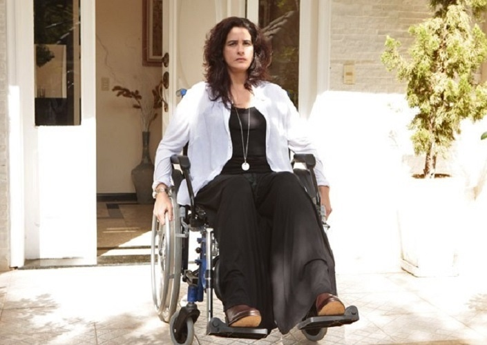 Lúcia Veríssimo vive a personagem Mariah Piattini na atual novela das 21h da Rede Globo,