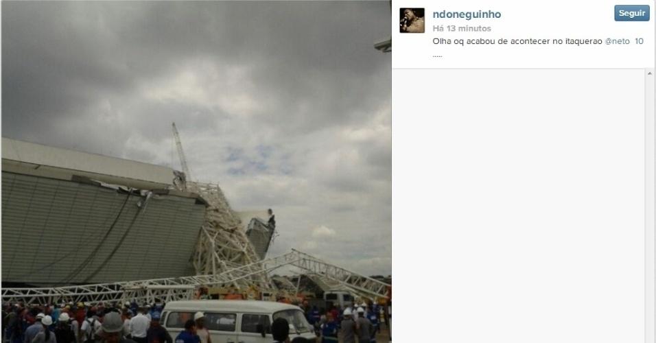Estrutura do Itaquerão desabou nesta quarta-feira (27/11)