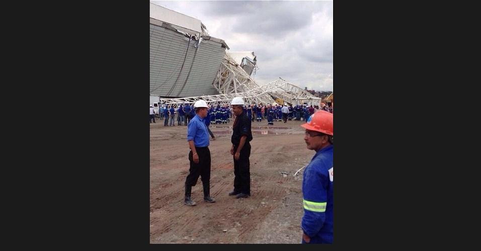 Imagem mostra acidente do Itaquerão