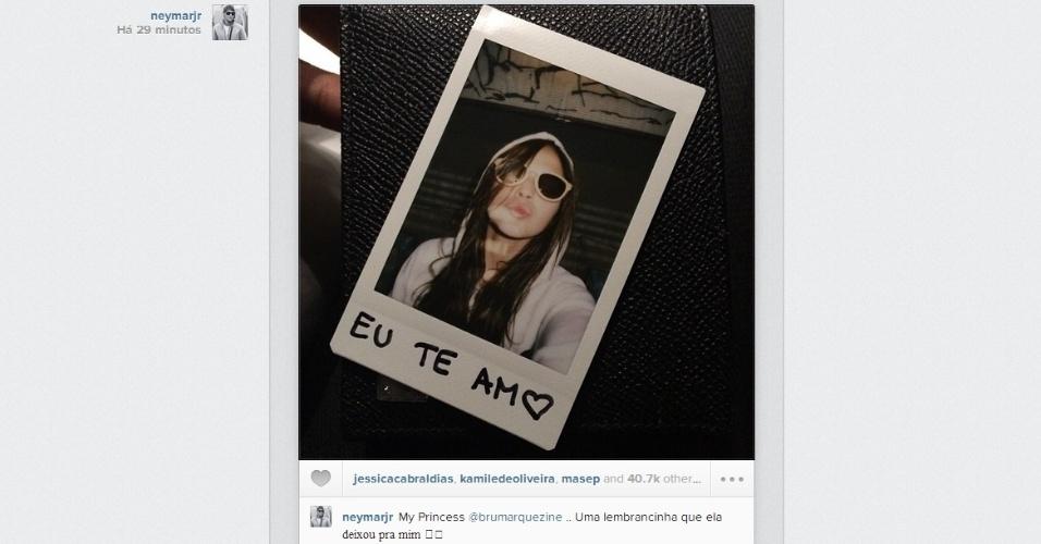 Neymar posta foto no Instagram e se declara para Bruna Marquezine