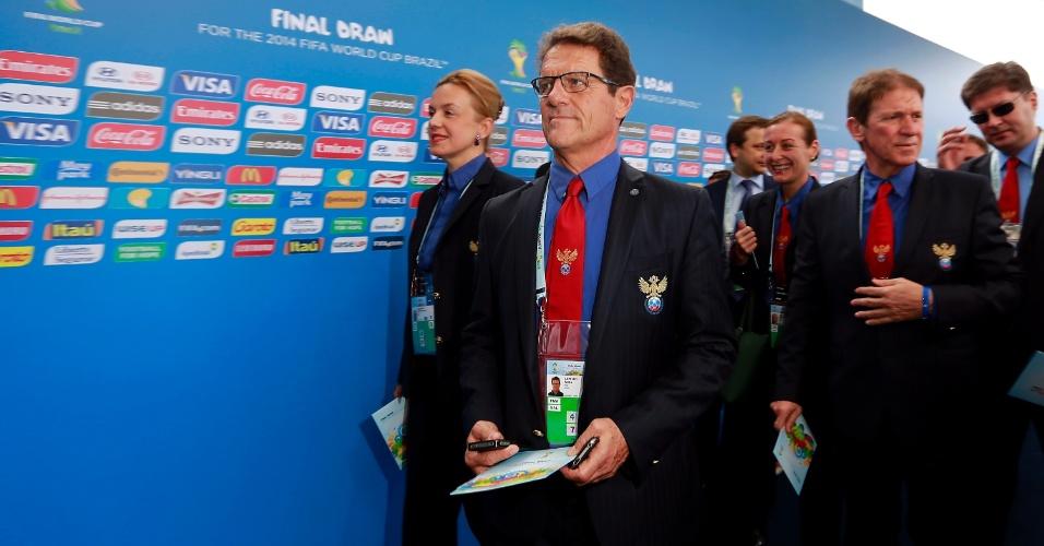 06.dez.2013 - Fabio Capello, técnico da Rússia, chega para assistir ao sorteio dos grupos