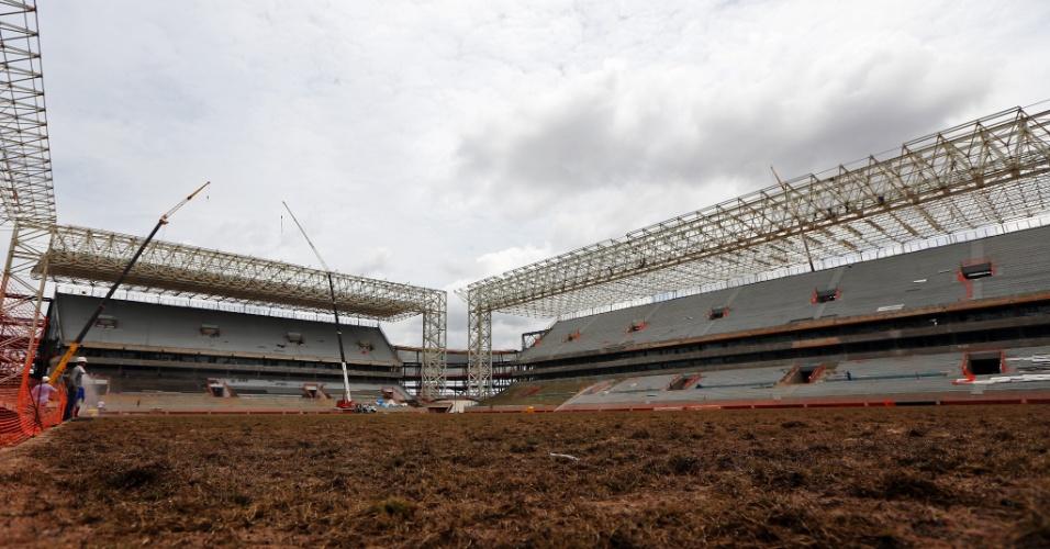 Arena Pantanal, em Cuiabá, em dezembro de 2013