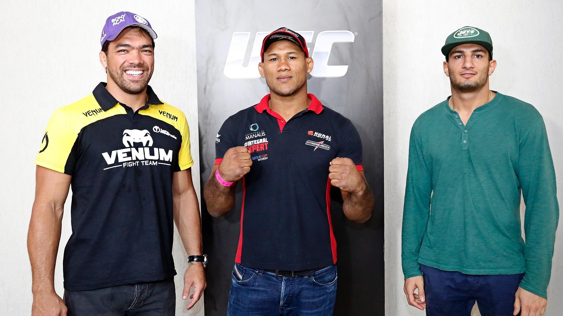 Lyoto Machida, Gegard Mousasi e Ronaldo Jacaré promovem o UFC Jaraguá 2