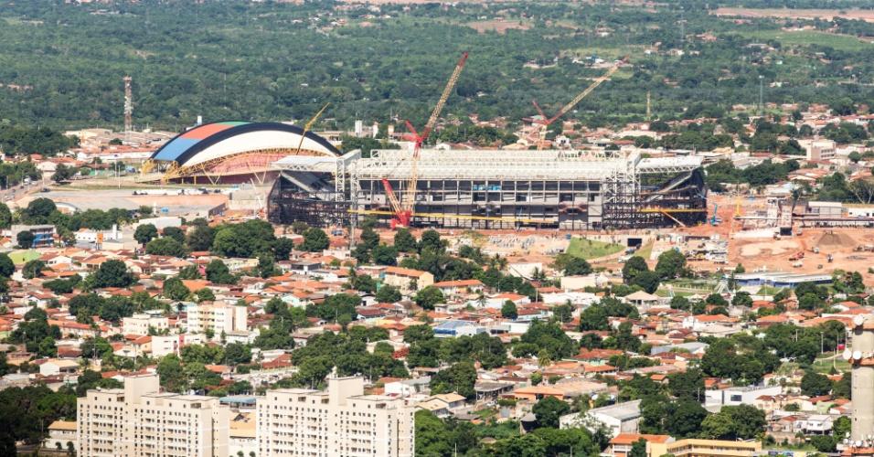 13.12.2013 - Governo federal divulgou imagens da obra da Arena Pantanal, estádio de Cuiabá para a Copa