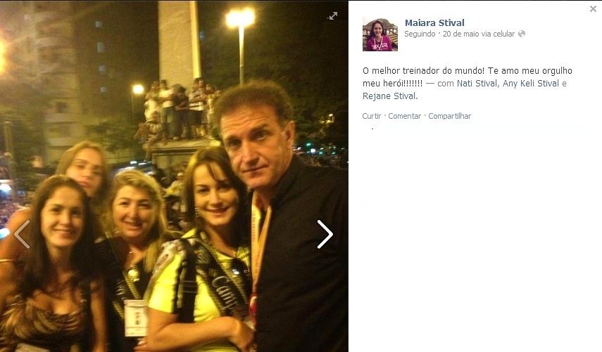 14 dez 2013 - Família do técnico Cuca, que comemorou o título da Libertadores, vai apoiar o treinador no Marrocos