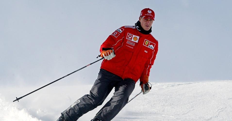 Michael Schumacher sofre acidente de esqui e tem trauma na cabeça