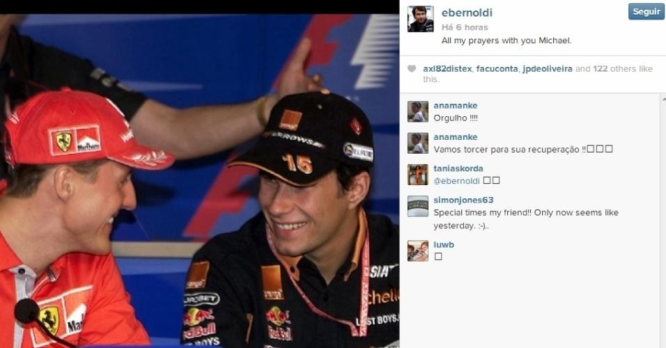 Enrique Bernoldi manda mensagem para Michael Schumacher