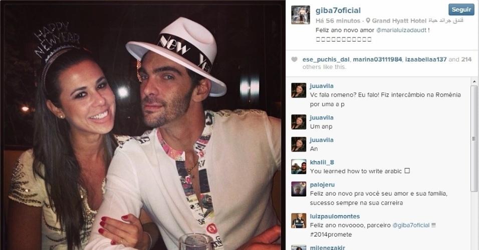 Giba passou o final de ano ao lado da namorada Maria Luiza Dautt: