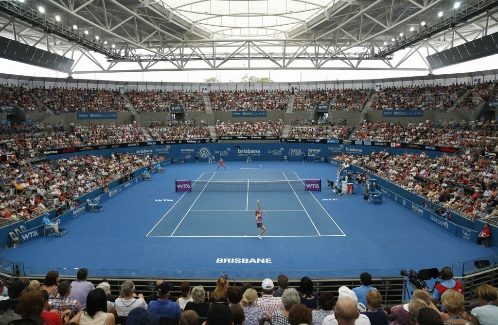 2. jan. 2014 - A russa Maria Sharapova enfrenta Kaia Kanepi, da Estônia pelas quartas de final do torneio de Brisbane, na Austrália