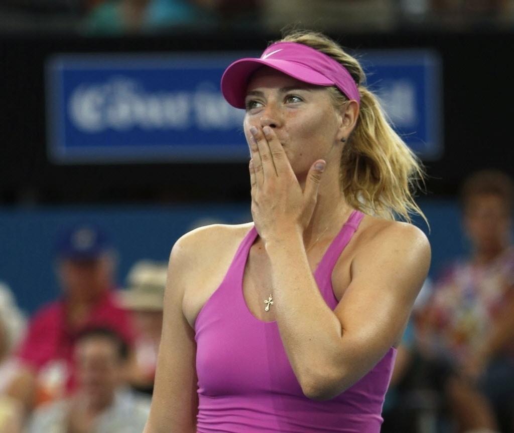 2. jan. 2014 - Sharapova enfrenta Kaia Kanepi pelas quartas de final do torneio de Brisbane, na Austrália