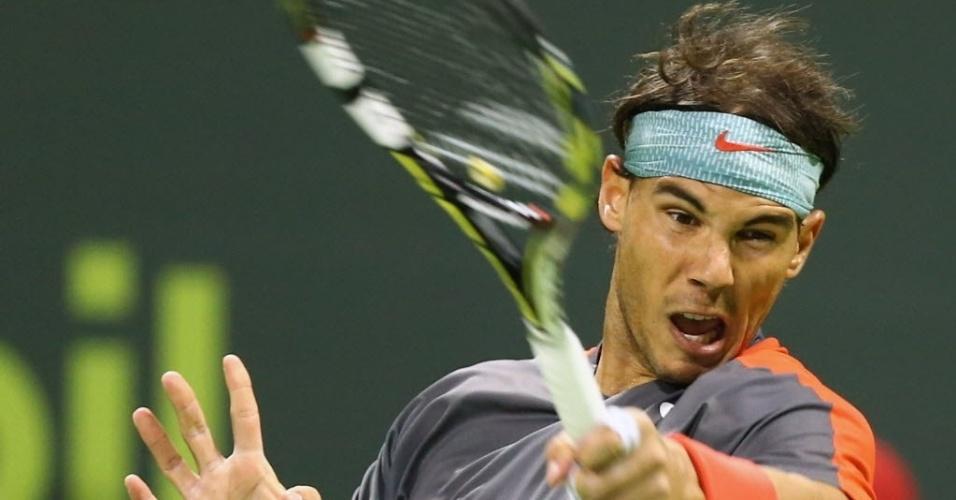 3. jan. 2014 - Rafael Nadal encara o alemão Peter Gojowczyk pela semifinal de Doha
