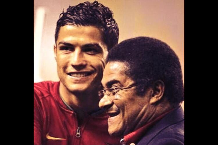 Cristiano Ronaldo presta homenagem a Eusébio pelo Twitter: