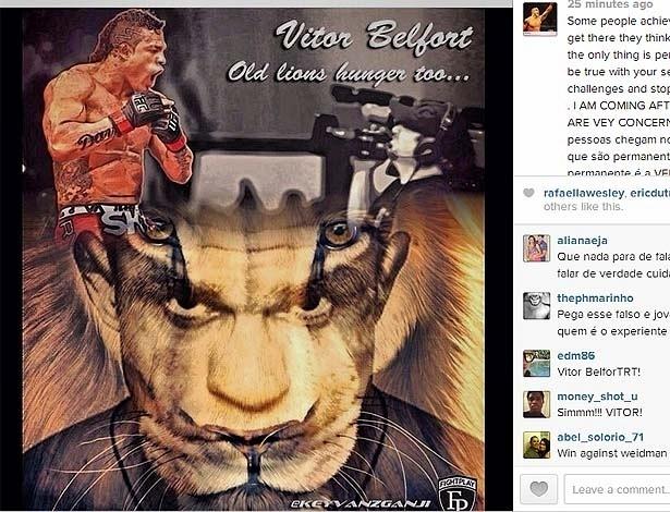 07.jan.2014 - Vitor Belfot faz desabafo no Instagram e provoca Weidman