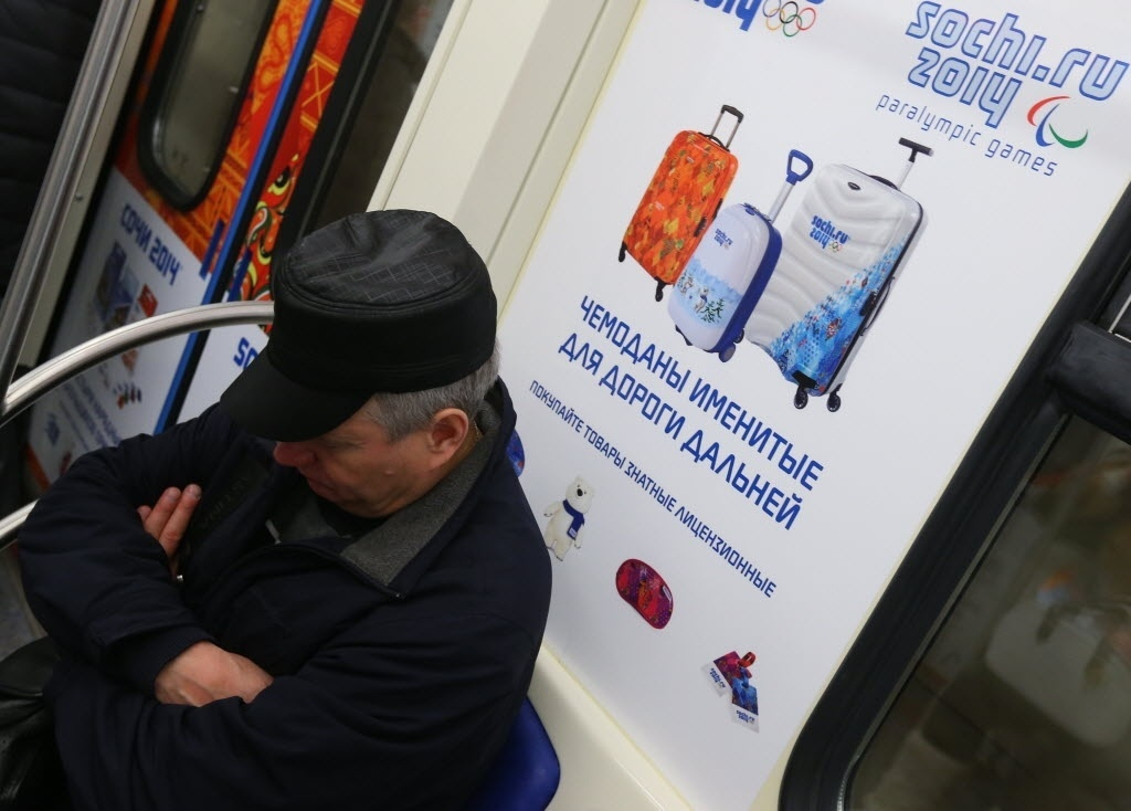 11. jan. 2014 - Metrô de Moscou é decorado para a Olimpíada de Inverno de Sochi