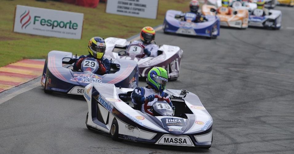 Felipe Massa chegou na terceira colocação no Desafio das Estrelas 2014