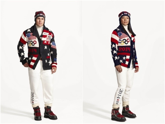 04.02.2014 - Uniforme da equipe dos Estados Unidos para a Olimpíada de Sochi