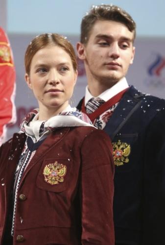 04.02.2014 - Uniforme da Rússia para a cerimônia de abertura dos Jogos Olímpicos de Sochi