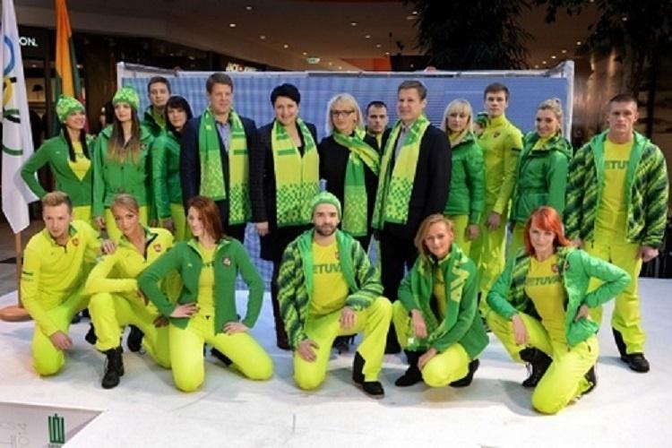 04.02.2014 - Uniformes da equipe da Lituânia para Sochi