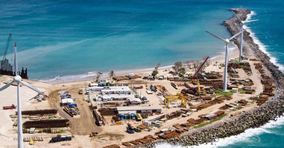 27.jun.2013 - Obras no Porto de Mucuripe, em Fortaleza, prevista para a Copa do Mundo