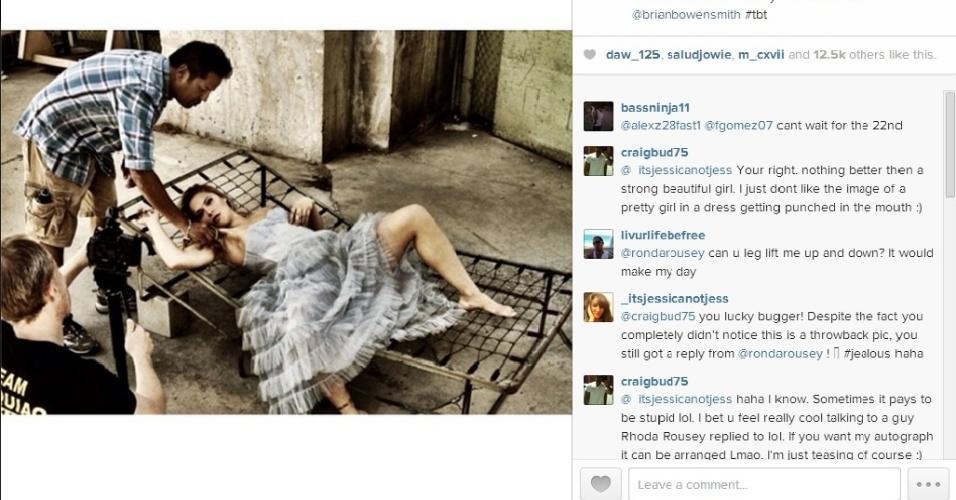 6.fev.2014 - Ronda Rousey mostrou toda a sua sensualidade ao posar para mais um ensaio fotográfico