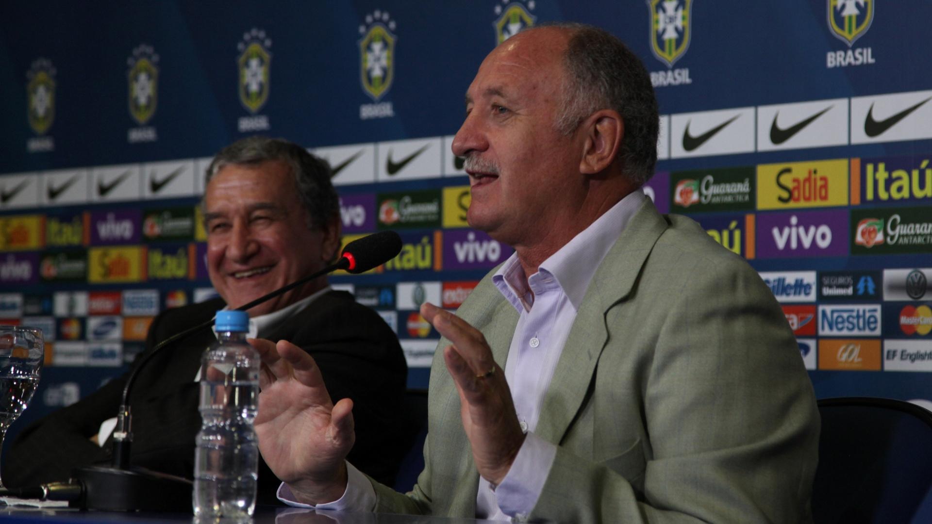 11.02.14 - Felipão durante a convocação para o amistoso da seleção contra a África do Sul