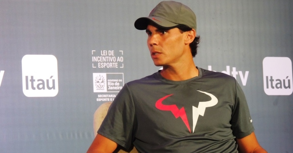 Rafael Nadal participa de coletiva de imprensa para o Aberto do Rio de Janeiro