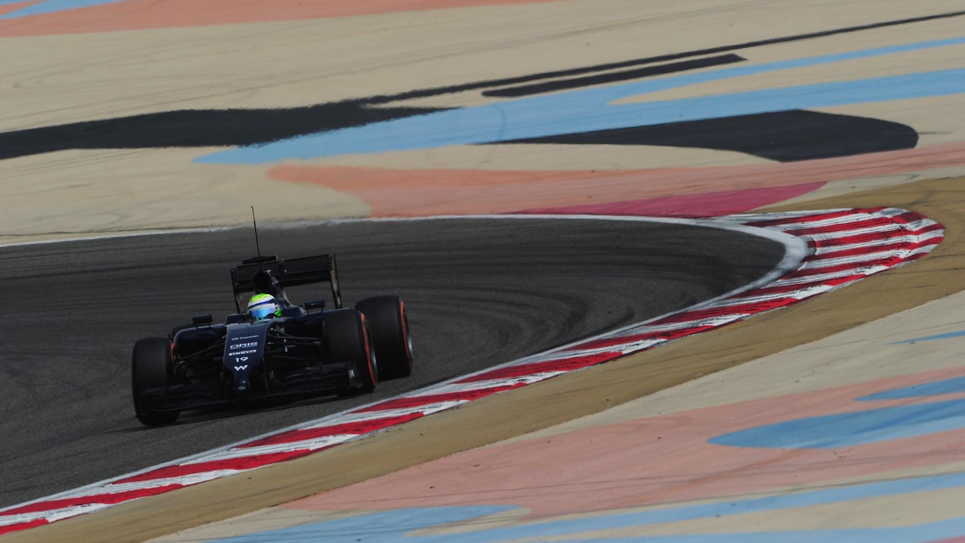28.fev.2014 - Felipe Massa pilota no Bahrein; brasileiro levou a Williams ao quarto lugar nesta sexta