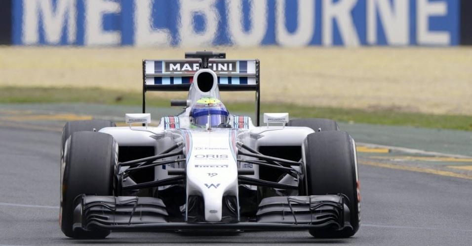 15.mar.2014 -  Felipe Massa não teve bom desempenho nos treinos livres na Austrália
