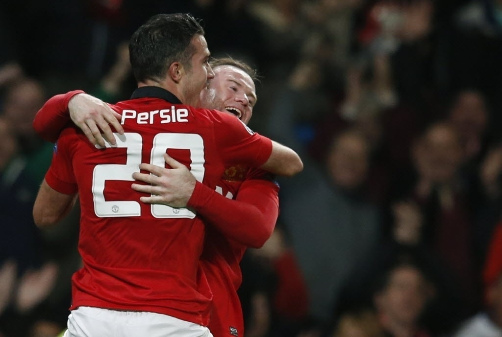 Wayne Rooney And Robin Van Persie 2014
