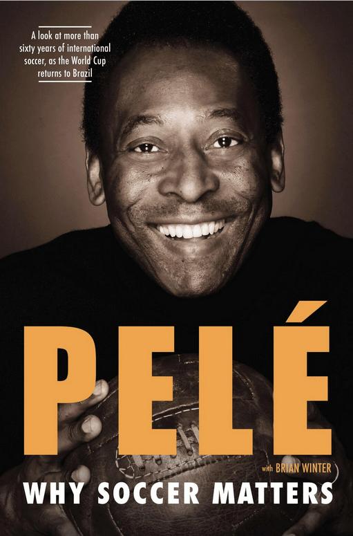 Pelé divulgou, em seu Twitter, a capa de seu novo livro, escrito junto a Brian Winter: