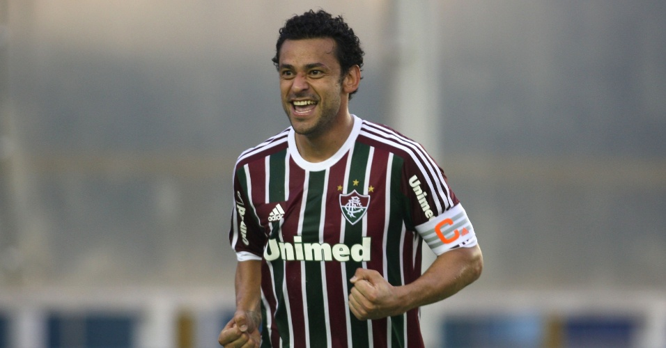 Fred comemora ao marcar na vitória do Fluminense no Carioca