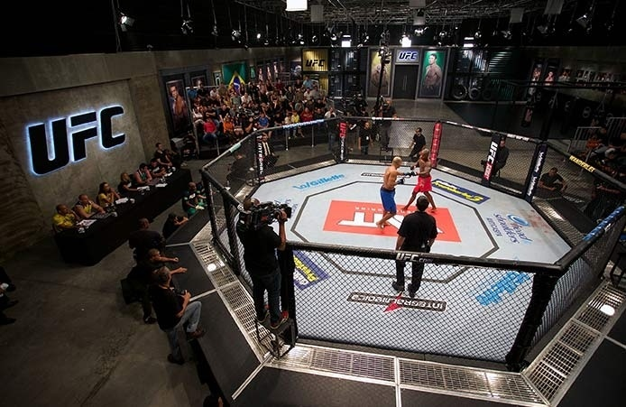 Luta durante a terceira edição do reality show The Ultimate Fighter Brasil