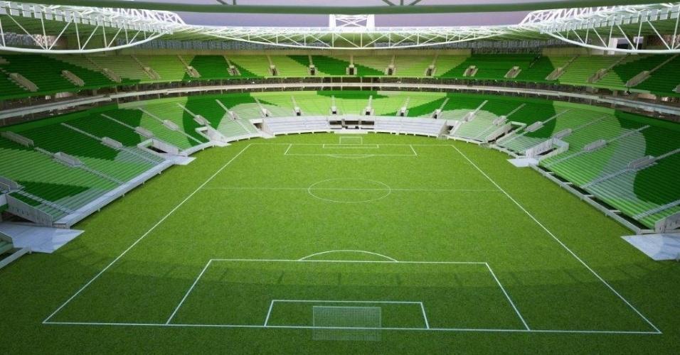 Cadeiras do Estádio do Palmeiras exibirão três cores de verde