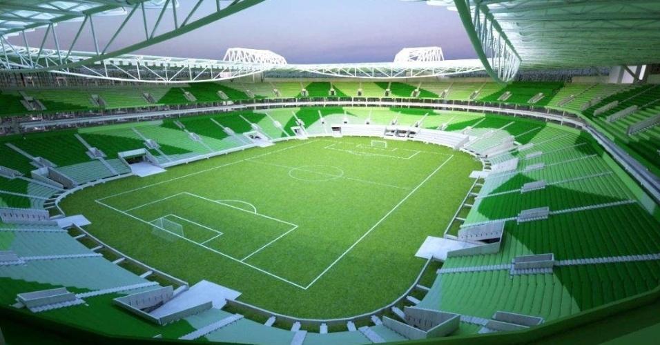 Serão quase 45 mil cadeiras distribuídas pelo estádio do Palmeiras