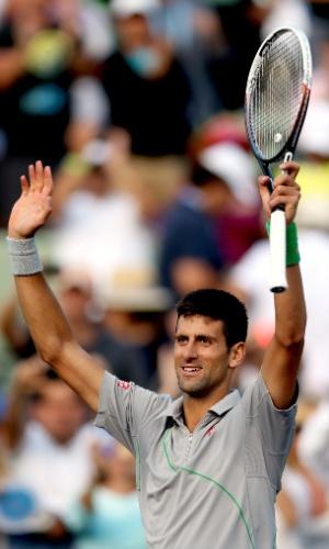 26.03.2014 - Djokovic comemora vitória sobre Murray no Masters 1000 de Miami