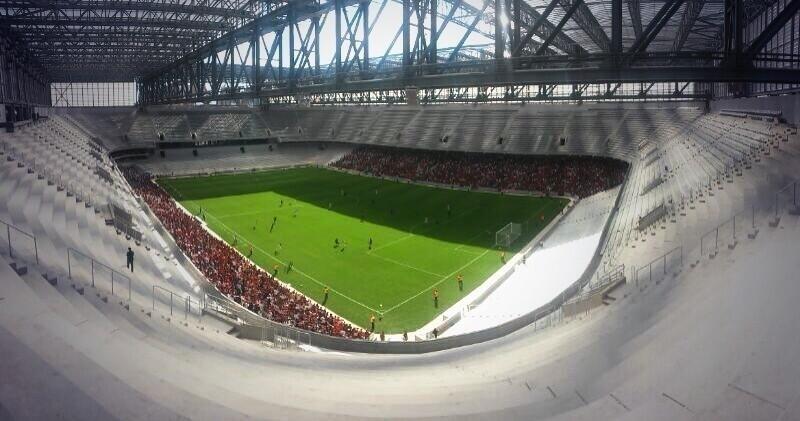 29.mar.2014 - Visão da arquibancada superior da Arena da Baixada durante jogo-teste entre Atlético-PR e J. Malucelli