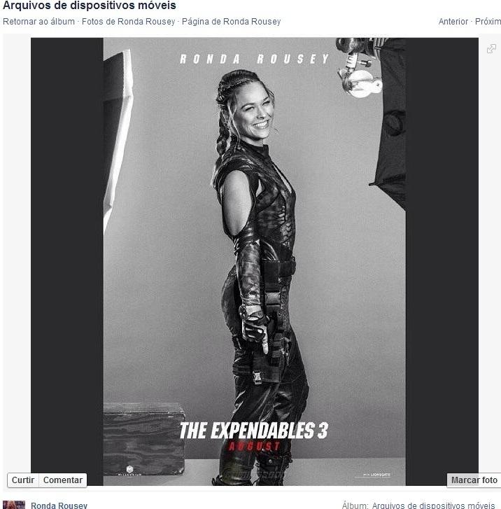 Ronda Rousey divulga pôster do filme Mercenários 3