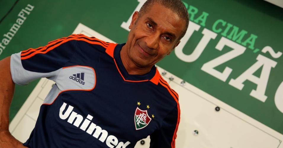 03 abr. 2014 - Apresentação de Cristóvão Borges como novo técnico do Fluminense, nas Laranjeiras