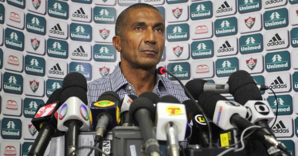 03 abr. 2014 - Cristóvão Borges é apresentado como novo treinador do Fluminense, nas Laranjeiras