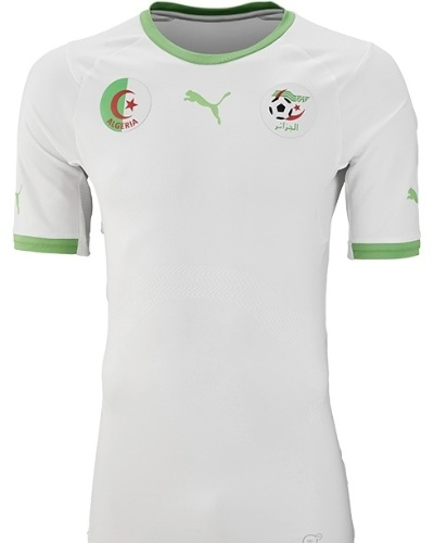 Camisa da Argélia que deverá ser usada na Copa do Mundo