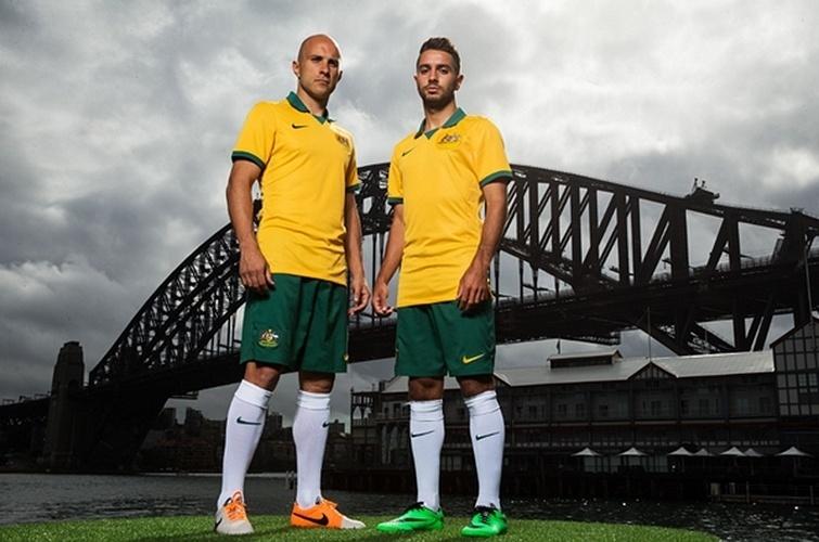 Austrália herda para Copa camisa velha da seleção brasileira