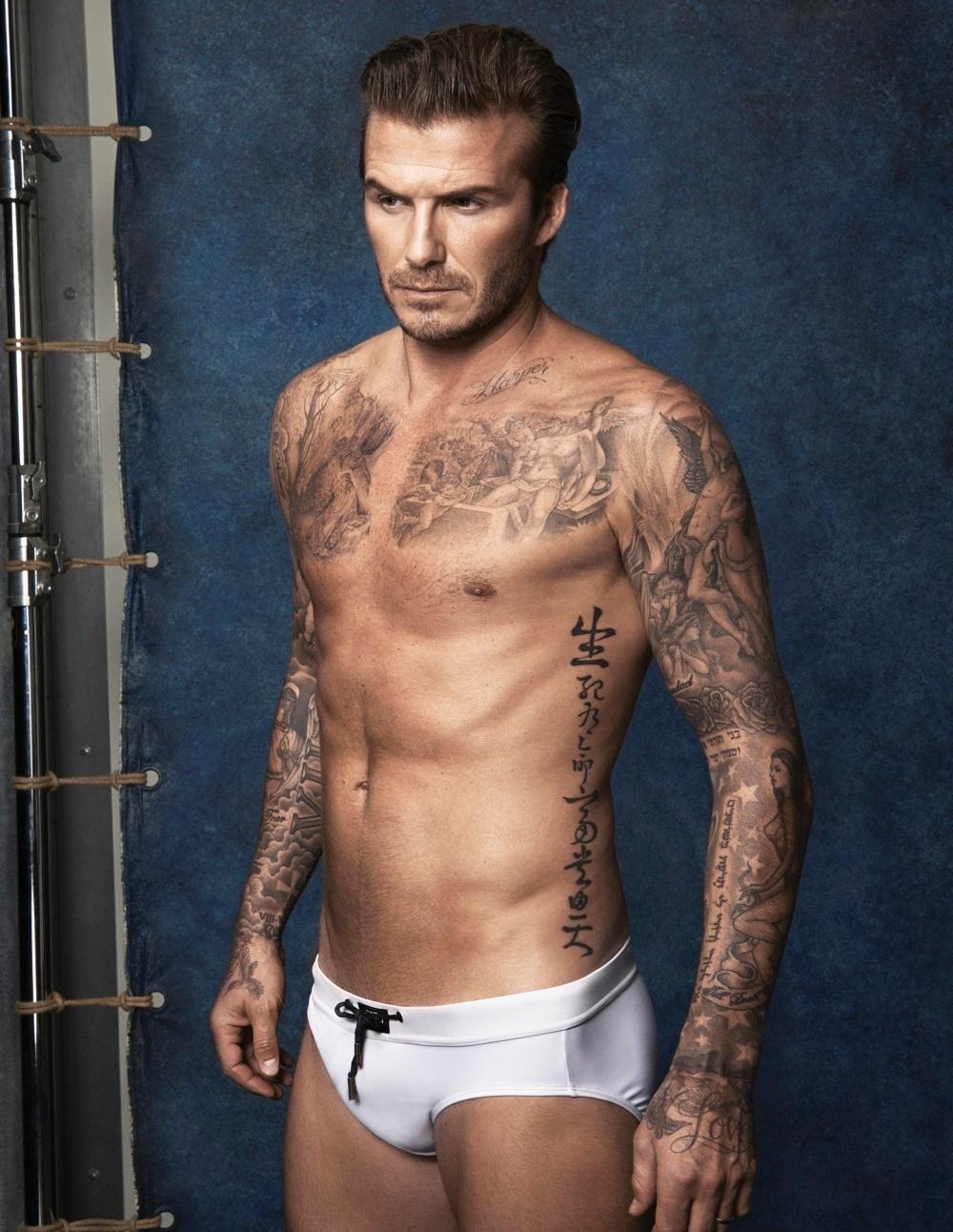 David Beckham posa de cueca