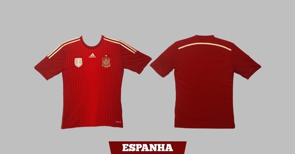 Espanha: camisa vermelha
