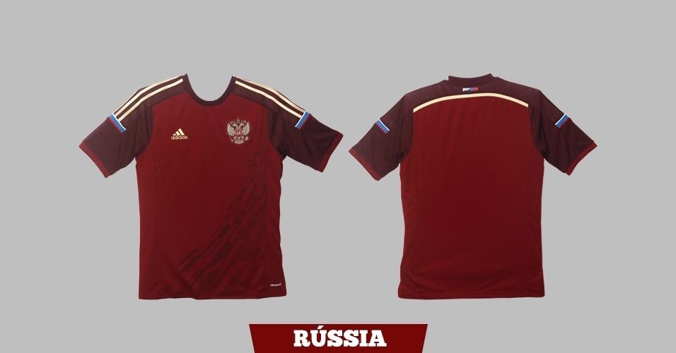 Rússia - Camisa vermelha