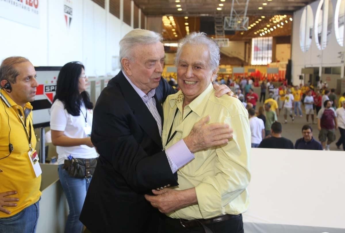 Presidente da CBF e sócio do São Paulo, José Maria Marin encontrou Juvenal Juvêncio