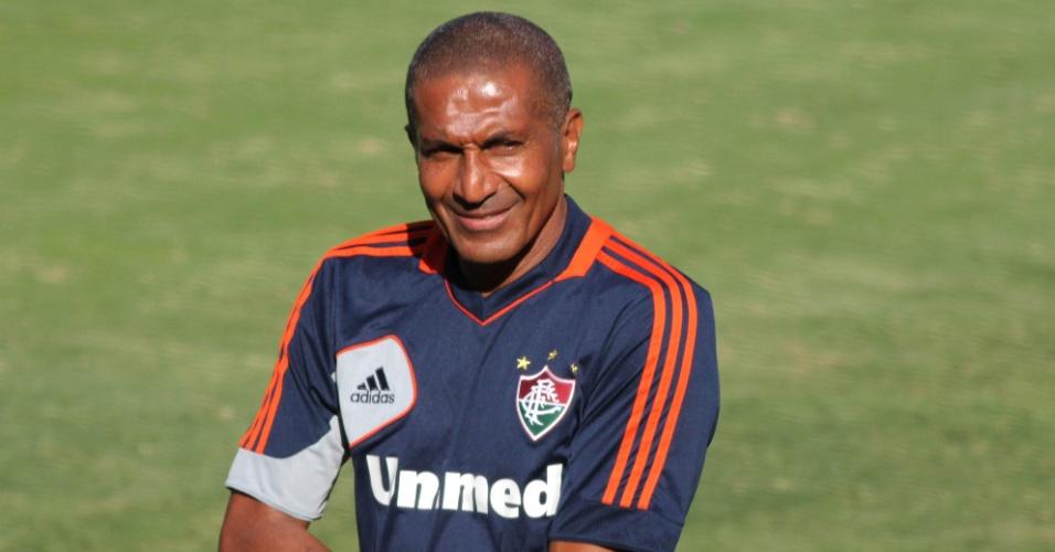 7.abr.2014 - Cristóvão Borges comanda treino do Fluminense nas Laranjeiras